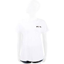 KARL LAGERFELD K/IKONIK 老佛爺躲貓貓口袋白色棉質T恤