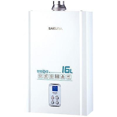 櫻花牌 SAKURA 16L浴SPA數位恆溫強排熱水器 DH-1635A 限北北基桃中配送