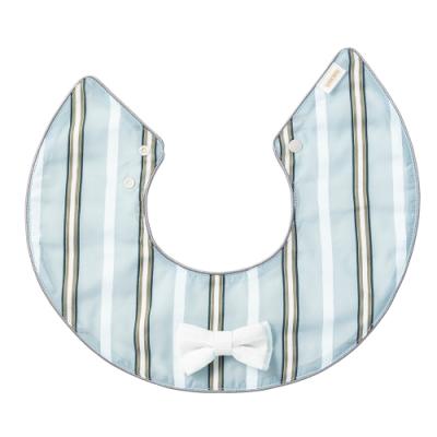 MARLMARL 圍兜 海洋甜心系列/藍灰條紋領結