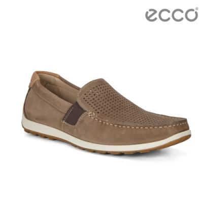 ECCO RECIPRICO 現代簡約輕便莫卡辛鞋 男-褐色