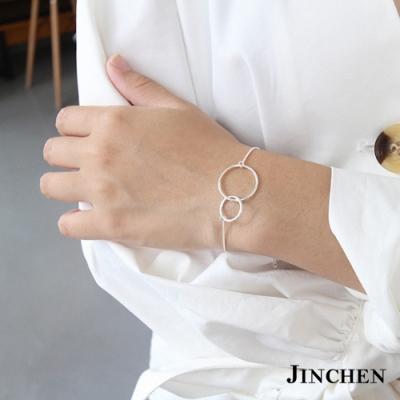 JINCHEN 純銀雙圓圈手鍊