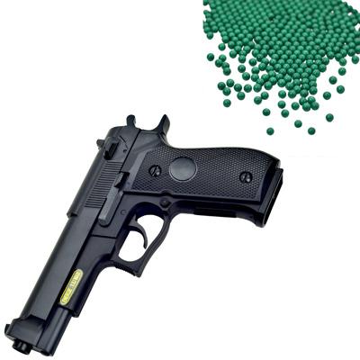 M92造型6mm彈徑手拉式空氣BB槍+0.25G高精密研磨 BB彈
