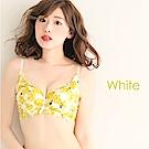 aimerfeel 玫瑰交叉蕾絲高脅邊內衣-白色-604013-W