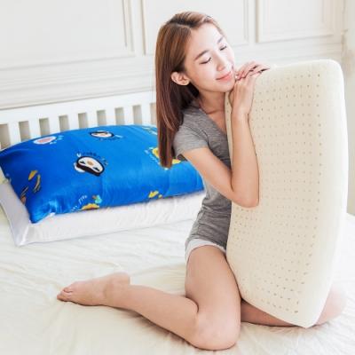 奶油獅-同樂會系列-成人專用-馬來西亞進口純天然麵包造型乳膠枕(宇宙藍)二入