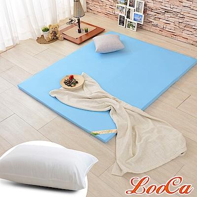 (開學組)LooCa 吸濕排汗HT5cm乳膠舒眠床墊-單大3.5尺