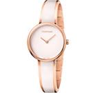 Calvin Klein Seduce 誘惑時尚手環式腕錶(K4E2N616)-白