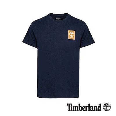 Timberland 男款深寶石藍LOGO標誌潮流撞色T恤|A1OA5