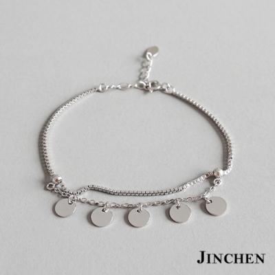 JINCHEN 純銀雙層亮片手鍊