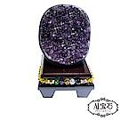 A1寶石  頂級巴西天然小紫晶鎮/陣-同烏拉圭水晶洞功效460g(贈五行木座)