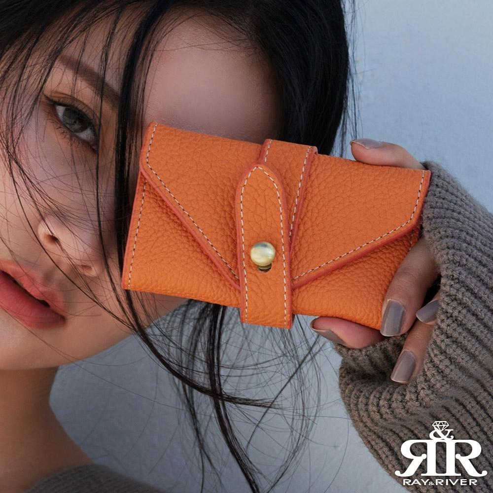 2R 荔紋牛皮Original原味質感鑰匙包 愛戀橘