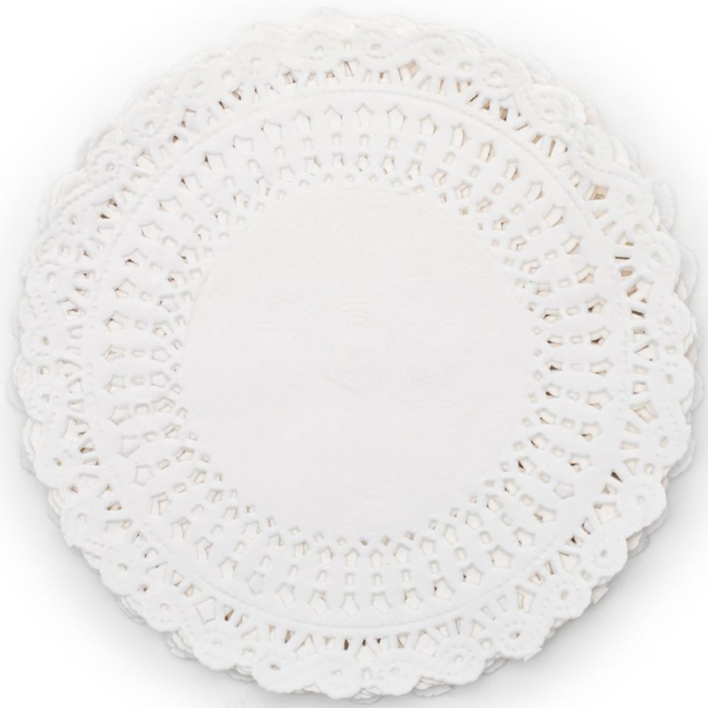 《FOXRUN》5吋蕾絲花邊蛋糕紙墊36入(白)