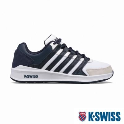 K-SWISS Vista Trainer T時尚運動鞋-男-白/藍
