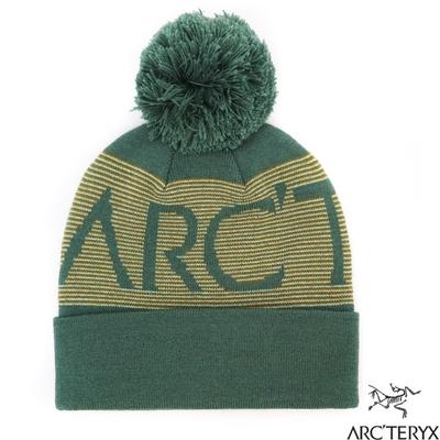 始祖鳥 Mini Stripe Banner 輕量彈性針織時尚毛球帽.保暖帽_繆斯綠