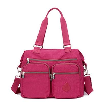 【KISSDIAMOND】防潑水超大容量手提媽媽包-6615(手提/肩背/大容量/葡萄紫)