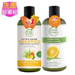 美國沛特斯 有機成份柑橘蘆薈保濕洗潤組(無矽靈-16oz/475ml)