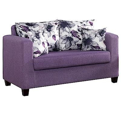 文創集 奇塔時尚亞麻布獨立筒二人座沙發椅(二色可選)-130x75x76cm免組