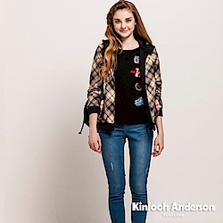 【Kinloch Anderson 金安德森女裝】圓領印花刺繡上衣