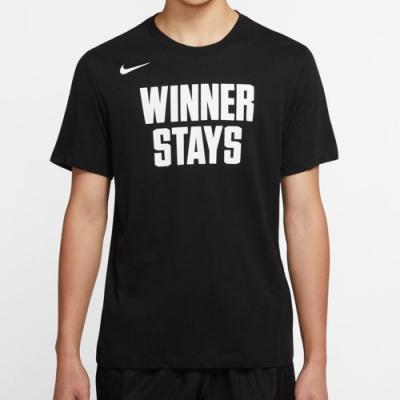 NIKE 短袖上衣  男款 休閒 運動 黑 CD1281010 AS M NK DRY TEE WINNER