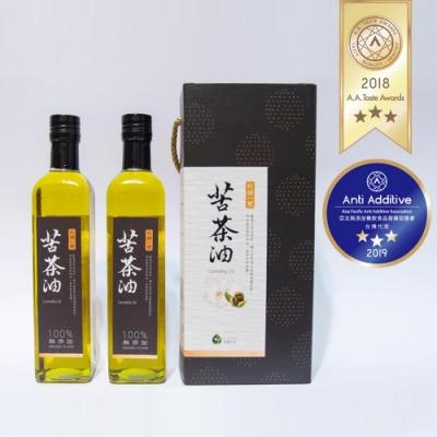 【幸樸作油】秋林一號苦茶油500ml(2入/組) 禮盒-加碼送幸樸感恩雙皂禮盒