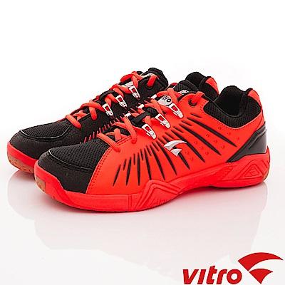 Vitro韓國專業運動品牌-HARRIER-B/N/O頂級羽球鞋-黑桔(男)