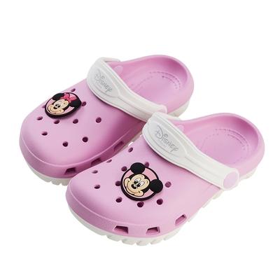 迪士尼童鞋 米奇與米妮 雙色洞洞防水涼鞋-粉(柏睿鞋業)