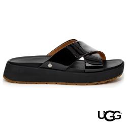 UGG女士 EMILY 方頭設計 交叉厚底拖鞋