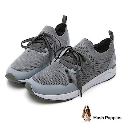 Hush Puppies Egret 襪套式健走鞋-灰色