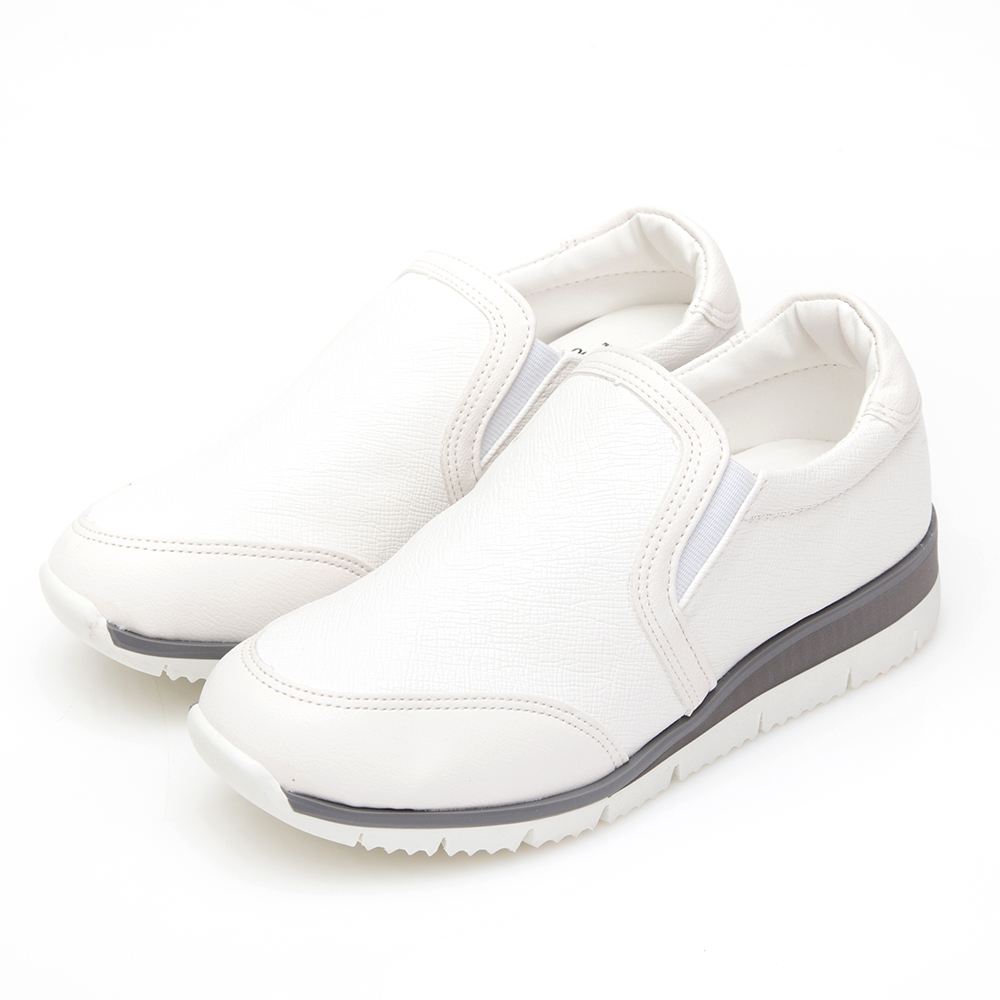 Camille's 韓國空運-素面懶人休閒小白鞋-白色