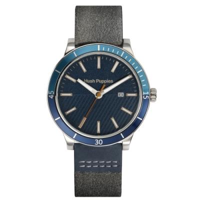 Hush Puppies 探險家潛水風腕錶 - 藍色 / 44 mm