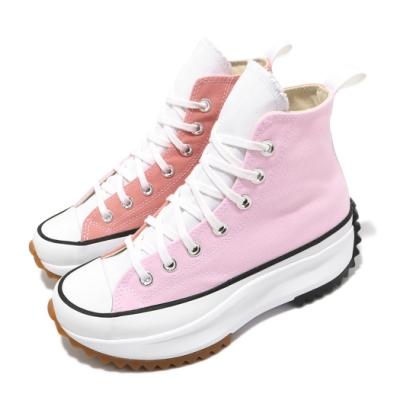 Converse 休閒鞋 Run Star Hike 女鞋 厚底 增高 帆布 球鞋 穿搭 粉 紫 170968C