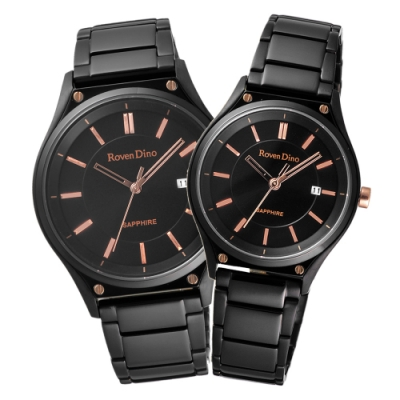 Roven Dino羅梵迪諾  秋日時尚魅力對錶-黑