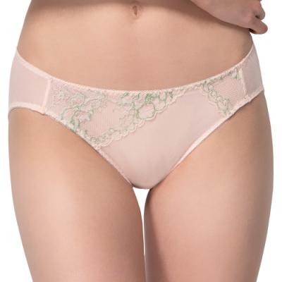 思薇爾 花薔系列M-XL蕾絲低腰三角內褲(潤膚粉)