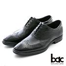 【bac】輕量舒適 翼紋雕花輕量商務鞋-黑