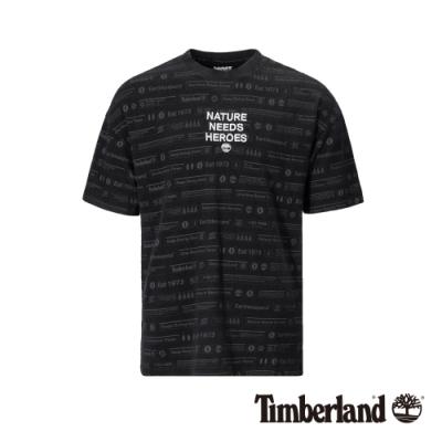 Timberland 男款黑色印花短袖T恤|A1VZ3