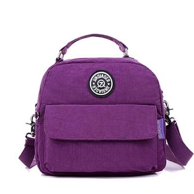 【KISSDIAMOND】多功能防潑水學院風背包(後背/斜背/大容量/紫色)