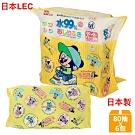 日本LEC 迪士尼米奇米妮-純水99%濕紙巾-80抽x6包入