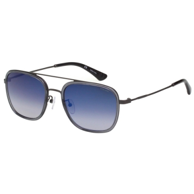 POLICE- 水銀面 太陽眼鏡 (透明灰+槍色)PE-SPL460G
