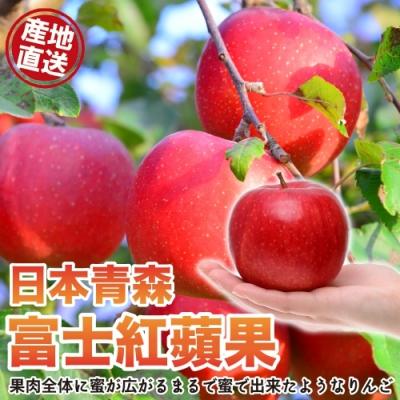 【天天果園】日本青森富士紅蘋果6入(每顆約290g)