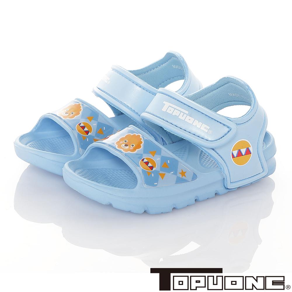 TOPUONE童鞋 極輕量軟Q彈性運動休閒涼鞋-水