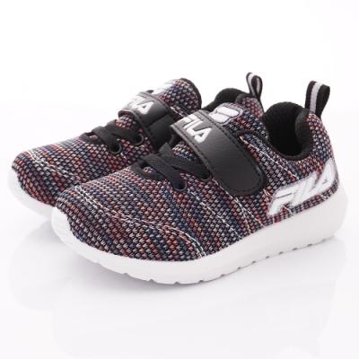 FILA頂級童鞋 針織輕量運動款 EI29T-001黑白