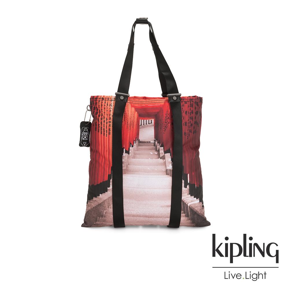 Kipling 京都伏見稻荷大容量手提帆布包-LOVILIA