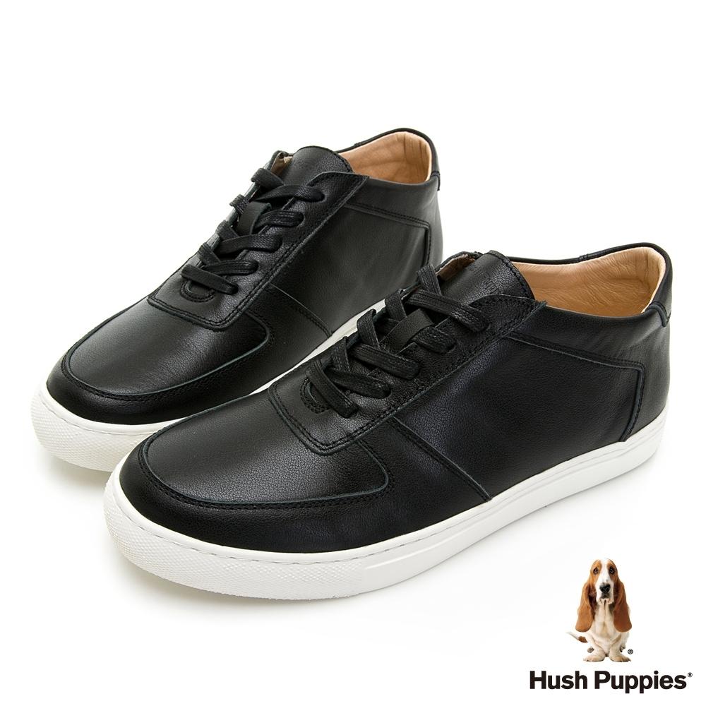 Hush Puppies Bull Terrier舒適皮革休閒鞋-黑色