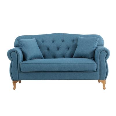 MUNA 米洛斯雙人布沙發(藍色/綠色) 157X81X85cm