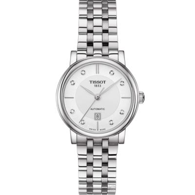 TISSOT CARSON 優雅時尚機械錶(T1222071103600)35mm