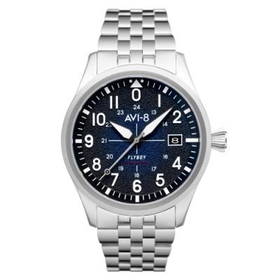 AVI-8 FLYBOY ENGINEER 飛行機械錶-藍/42mm