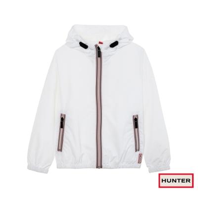 HUNTER - 大童 - 聚脂纖維防潑水連帽外套 - 白