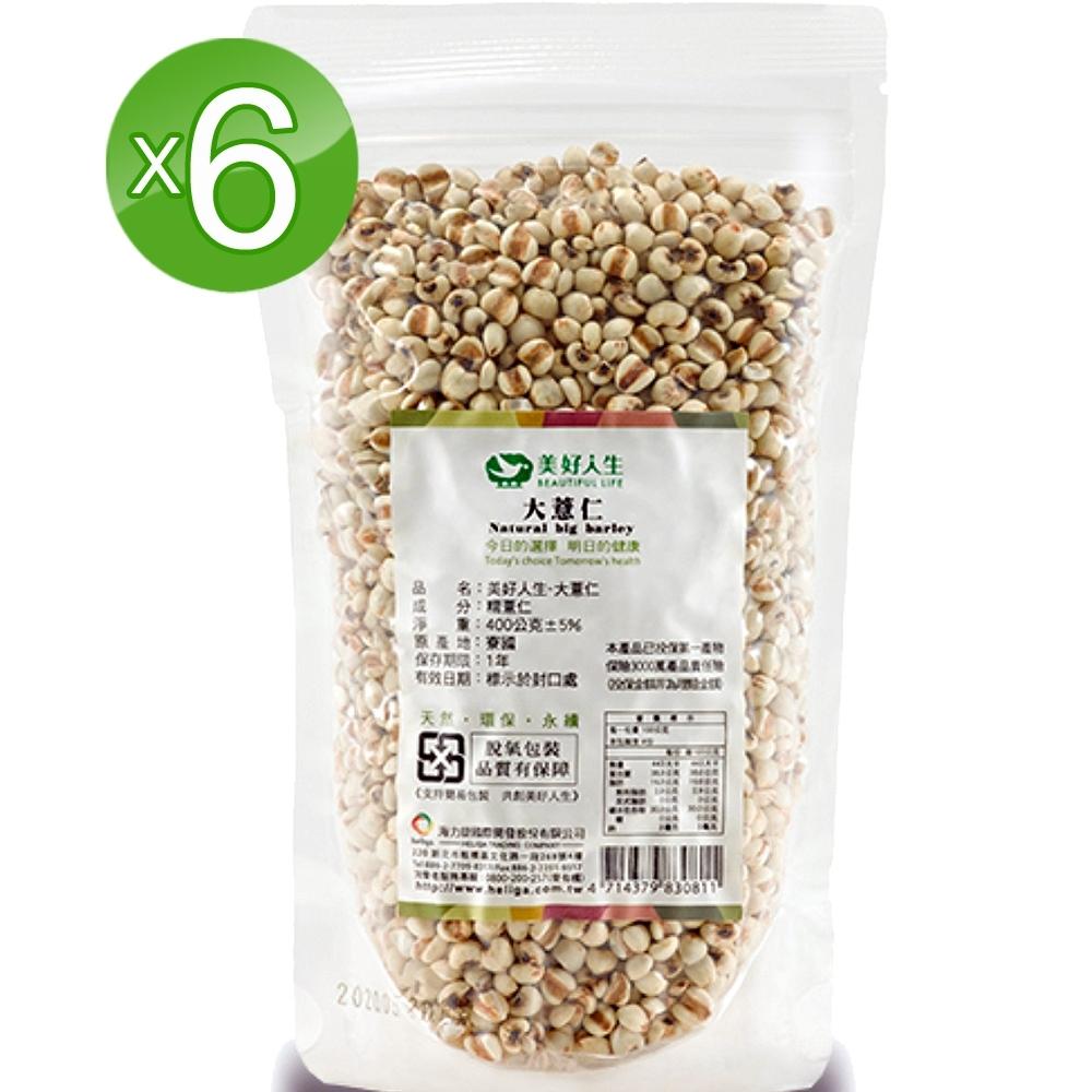 美好人生Beautiful Life 大薏仁6包(400g/袋)可當主食或加入米飯烹煮