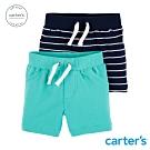 carter's台灣總代理 色白短褲兩件組