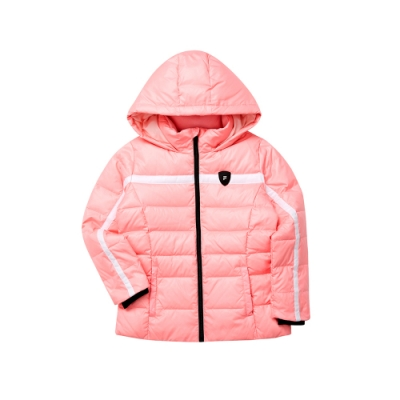 FILA KIDS 女童羽絨外套-粉紅 5JKT-8415-PK