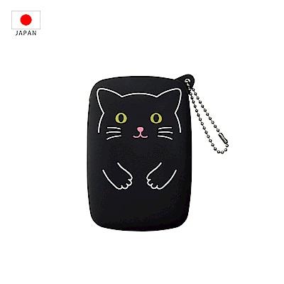 【日本PuniLabo】SMART FIT 隨身小物收納包 黑色貓咪